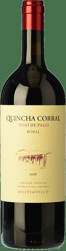94,95 € 免费送货 | 红酒 Mustiguillo Quincha Corral Crianza D.O.P. Vino de Pago El Terrerazo 巴伦西亚社区 西班牙 Bobal 瓶子 75 cl