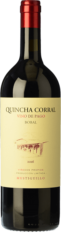 94,95 € Free Shipping | Red wine Mustiguillo Quincha Corral Crianza D.O.P. Vino de Pago El Terrerazo Valencian Community Spain Bobal Bottle 75 cl