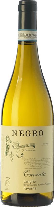 12,95 € Free Shipping | White wine Negro Angelo Onorata D.O.C. Langhe Piemonte Italy Favorita Bottle 75 cl