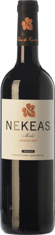 7,95 € 免费送货   红酒 Nekeas Crianza D.O. Navarra 纳瓦拉 西班牙 Merlot 瓶子 75 cl