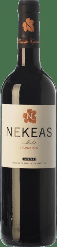 7,95 € Envoi gratuit | Vin rouge Nekeas Crianza D.O. Navarra Navarre Espagne Merlot Bouteille 75 cl