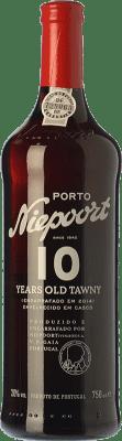 31,95 € Free Shipping | Fortified wine Niepoort 10 Years Old Tawny I.G. Porto Porto Portugal Touriga Franca, Touriga Nacional, Tinta Amarela, Tinta Cão, Sousão, Tinta Francisca Bottle 75 cl