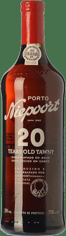 74,95 € | Fortified wine Niepoort 20 Years Old Tawny I.G. Porto Porto Portugal Touriga Franca, Touriga Nacional, Tinta Amarela, Tinta Cão, Sousão, Tinta Francisca Bottle 75 cl