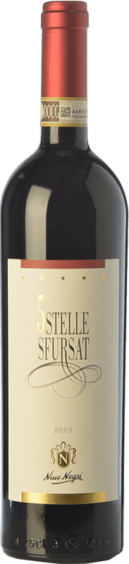 65,95 € Free Shipping | Red wine Nino Negri Sfursat 5 Stelle D.O.C.G. Sforzato di Valtellina Lombardia Italy Nebbiolo Bottle 75 cl