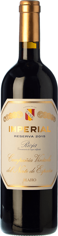25,95 € Envoi gratuit | Vin rouge Norte de España - CVNE Cune Imperial Reserva D.O.Ca. Rioja La Rioja Espagne Tempranillo, Graciano, Mazuelo Bouteille 75 cl