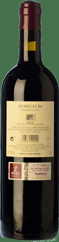 19,95 € Free Shipping   Red wine Ntra. Sra de Remelluri Reserva D.O.Ca. Rioja The Rioja Spain Tempranillo, Grenache, Graciano, Viura, Malvasía Bottle 75 cl