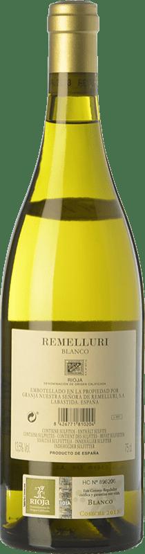 47,95 € Free Shipping | White wine Ntra. Sra de Remelluri Crianza D.O.Ca. Rioja The Rioja Spain Grenache White, Roussanne, Viognier, Chardonnay, Sauvignon White, Marsanne Bottle 75 cl