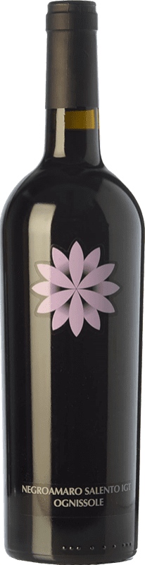 9,95 € Envoi gratuit | Vin rouge Ognissole I.G.T. Salento Campanie Italie Negroamaro Bouteille 75 cl