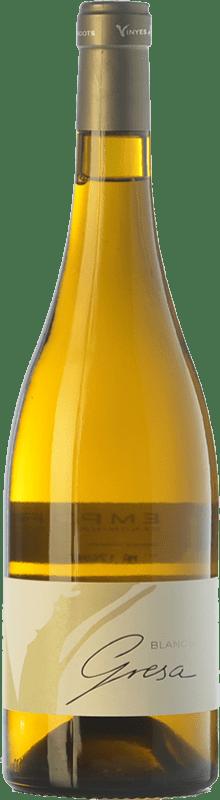16,95 € Free Shipping | White wine Olivardots Blanc de Gresa Crianza D.O. Empordà Catalonia Spain Grenache Tintorera, Grenache White, Carignan White Bottle 75 cl