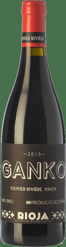 39,95 € 免费送货 | 红酒 Olivier Rivière Ganko Crianza D.O.Ca. Rioja 拉里奥哈 西班牙 Grenache, Mazuelo 瓶子 75 cl