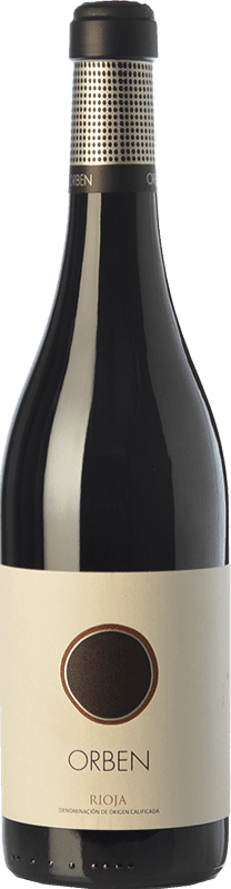 Free Shipping | Red wine Orben Crianza 2015 D.O.Ca. Rioja The Rioja Spain Tempranillo, Graciano Bottle 75 cl