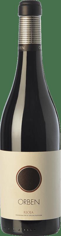 Envío gratis | Vino tinto Orben Crianza 2015 D.O.Ca. Rioja La Rioja España Tempranillo, Graciano Botella 75 cl