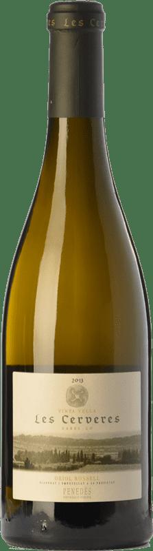 22,95 € Envío gratis | Vino blanco Oriol Rossell Les Cerveres Crianza D.O. Penedès Cataluña España Xarel·lo Botella 75 cl
