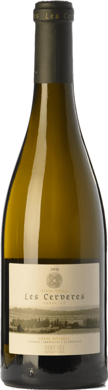 22,95 € Free Shipping | White wine Oriol Rossell Les Cerveres Crianza D.O. Penedès Catalonia Spain Xarel·lo Bottle 75 cl