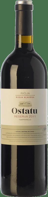 21,95 € 免费送货 | 红酒 Ostatu Reserva D.O.Ca. Rioja 拉里奥哈 西班牙 Tempranillo 瓶子 75 cl
