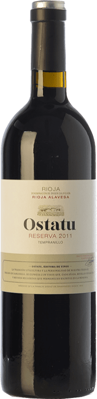 21,95 € | Red wine Ostatu Reserva D.O.Ca. Rioja The Rioja Spain Tempranillo Bottle 75 cl