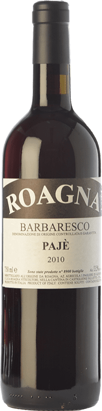 142,95 € | Red wine Roagna Pajè D.O.C.G. Barbaresco Piemonte Italy Nebbiolo Bottle 75 cl