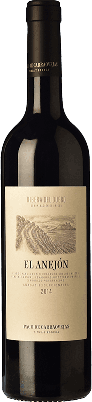 87,95 € Envoi gratuit | Vin rouge Pago de Carraovejas El Anejón D.O. Ribera del Duero Castille et Leon Espagne Tempranillo, Merlot, Cabernet Sauvignon Bouteille 75 cl