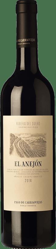 87,95 € Envío gratis | Vino tinto Pago de Carraovejas El Anejón D.O. Ribera del Duero Castilla y León España Tempranillo, Merlot, Cabernet Sauvignon Botella 75 cl