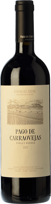 39,95 € | Red wine Pago de Carraovejas Crianza D.O. Ribera del Duero Castilla y León Spain Tempranillo, Merlot, Cabernet Sauvignon Bottle 75 cl