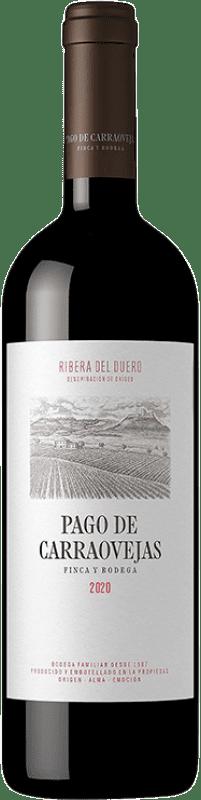 39,95 € Envío gratis | Vino tinto Pago de Carraovejas Crianza D.O. Ribera del Duero Castilla y León España Tempranillo, Merlot, Cabernet Sauvignon Botella 75 cl