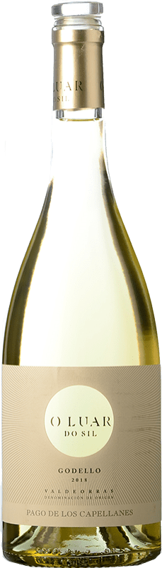 11,95 € 免费送货 | 白酒 Pago de los Capellanes O Luar Do Sil D.O. Valdeorras 加利西亚 西班牙 Godello 瓶子 75 cl