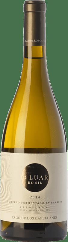 29,95 € Envoi gratuit | Vin blanc Pago de los Capellanes O Luar Do Sil Fermentado en Barrica Crianza D.O. Valdeorras Galice Espagne Godello Bouteille 75 cl