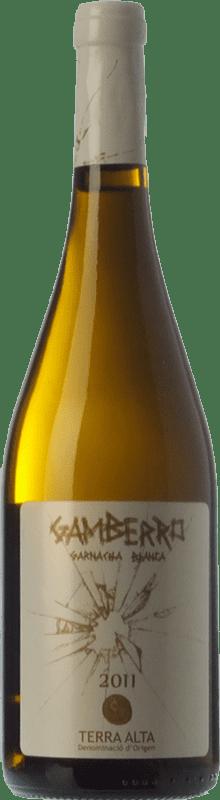 26,95 € Free Shipping | White wine Pagos de Híbera Gamberro Crianza D.O. Terra Alta Catalonia Spain Grenache White Bottle 75 cl