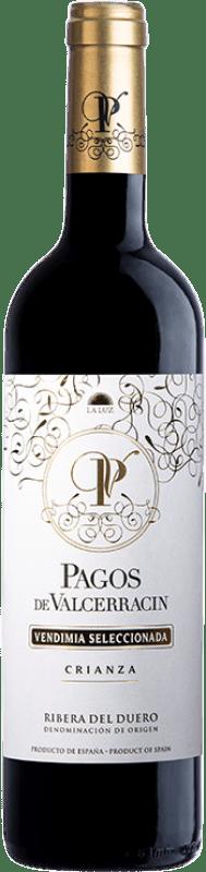 15,95 € 免费送货 | 红酒 Pagos de Valcerracín Crianza D.O. Ribera del Duero 卡斯蒂利亚莱昂 西班牙 Tempranillo 瓶子 75 cl