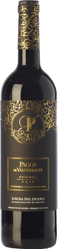 15,95 € Envío gratis | Vino tinto Pagos de Valcerracín Crianza D.O. Ribera del Duero Castilla y León España Tempranillo Botella 75 cl