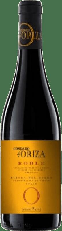8,95 € Envío gratis | Vino tinto Pagos del Rey Condado de Oriza Roble D.O. Ribera del Duero Castilla y León España Tempranillo Botella 75 cl