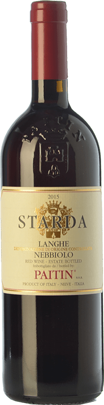 15,95 € Free Shipping | Red wine Paitin Starda D.O.C. Langhe Piemonte Italy Nebbiolo Bottle 75 cl