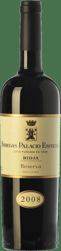 41,95 € Envío gratis | Vino tinto Palacio Especial Reserva D.O.Ca. Rioja La Rioja España Tempranillo Botella 75 cl