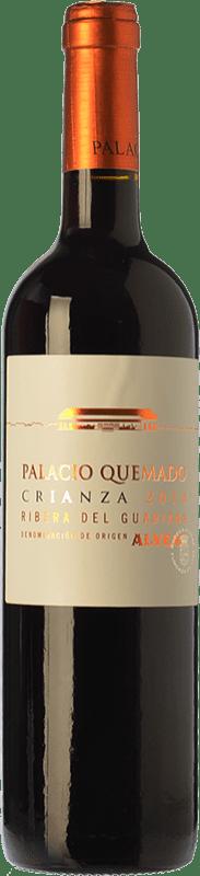 9,95 € Free Shipping | Red wine Palacio Quemado Crianza D.O. Ribera del Guadiana Estremadura Spain Tempranillo, Cabernet Sauvignon Bottle 75 cl