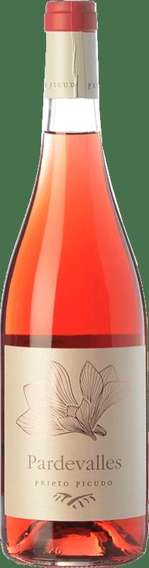 9,95 € 免费送货 | 玫瑰酒 Pardevalles D.O. Tierra de León 卡斯蒂利亚莱昂 西班牙 Prieto Picudo 瓶子 75 cl