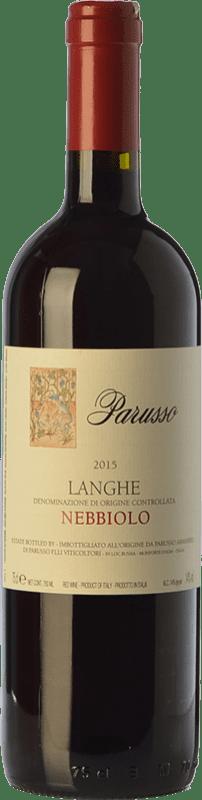 19,95 € | Red wine Parusso D.O.C. Langhe Piemonte Italy Nebbiolo Bottle 75 cl