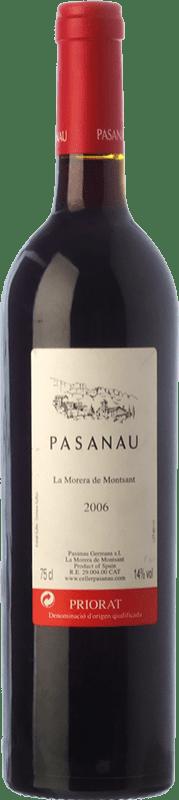 24,95 € Free Shipping | Red wine Pasanau La Morera de Montsant Crianza D.O.Ca. Priorat Catalonia Spain Merlot, Grenache, Carignan Bottle 75 cl