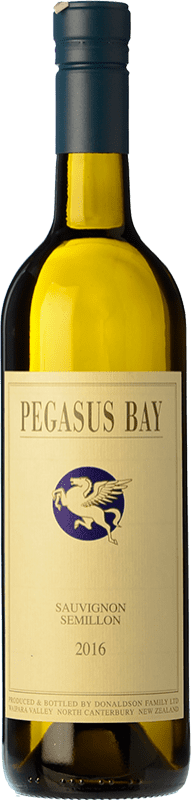 28,95 € Free Shipping | White wine Pegasus Bay Sauvignon-Sémillon Crianza I.G. Waipara Waipara New Zealand Sémillon, Sauvignon Bottle 75 cl