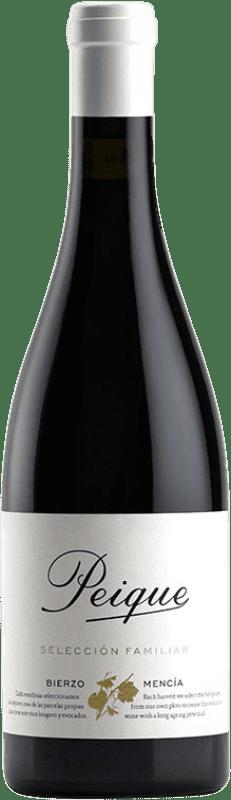 34,95 € Envío gratis | Vino tinto Peique Selección Familiar Crianza D.O. Bierzo Castilla y León España Mencía Botella 75 cl