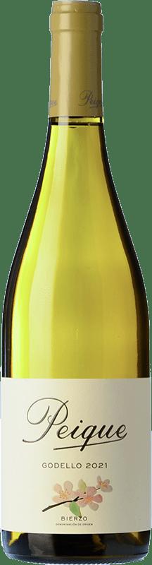 8,95 € Envío gratis | Vino blanco Peique sobre Lías D.O. Bierzo Castilla y León España Godello Botella 75 cl