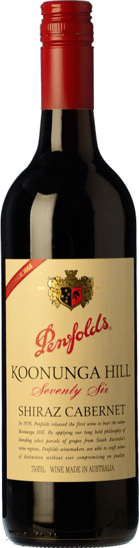 17,95 € Free Shipping | Red wine Penfolds Koonunga Hill Seventy Six Joven I.G. Southern Australia Southern Australia Australia Syrah, Cabernet Sauvignon Bottle 75 cl