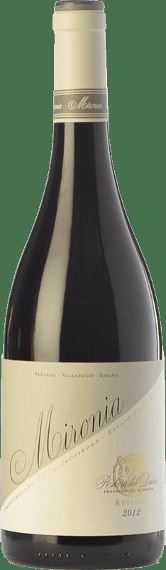 24,95 € Envío gratis | Vino tinto Peñafiel Mironia Reserva D.O. Ribera del Duero Castilla y León España Tempranillo Botella 75 cl
