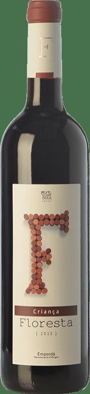 6,95 € Free Shipping | Red wine Pere Guardiola Floresta Criança Crianza D.O. Empordà Catalonia Spain Merlot, Grenache, Cabernet Sauvignon Bottle 75 cl