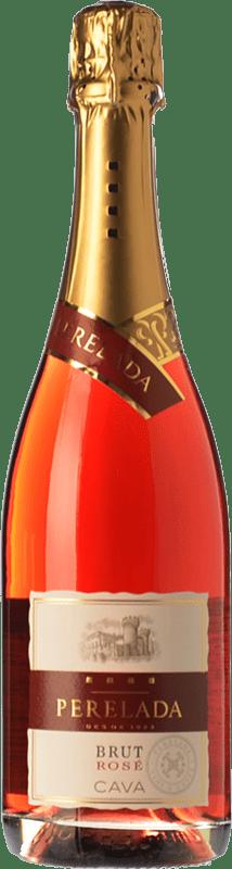 6,95 € 免费送货 | 玫瑰气泡酒 Perelada Rosé 香槟 D.O. Cava 加泰罗尼亚 西班牙 Grenache, Pinot Black, Trepat 瓶子 75 cl