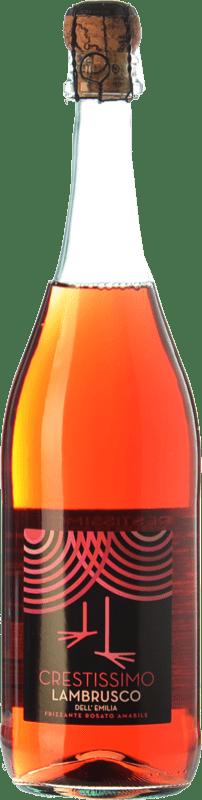 4,95 € | Rosé sparkling Perelada Crestissimo Rosato Joven I.G.T. Emilia Romagna Emilia-Romagna Italy Lambrusco Bottle 75 cl
