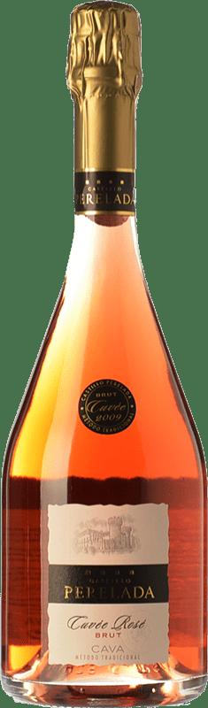 13,95 € 免费送货 | 玫瑰气泡酒 Perelada Cuvée Rosé 香槟 D.O. Cava 加泰罗尼亚 西班牙 Trepat 瓶子 75 cl
