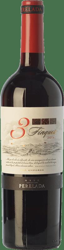 6,95 € | Red wine Perelada 3 Fincas Crianza D.O. Empordà Catalonia Spain Tempranillo, Merlot, Syrah, Grenache, Cabernet Sauvignon, Samsó Bottle 75 cl
