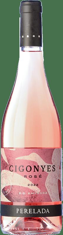 8,95 € Envío gratis | Vino rosado Perelada Cigonyes Rosé D.O. Empordà Cataluña España Merlot, Garnacha Botella 75 cl