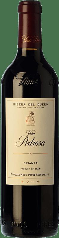 21,95 € 免费送货 | 红酒 Pérez Pascuas Viña Pedrosa Crianza D.O. Ribera del Duero 卡斯蒂利亚莱昂 西班牙 Tempranillo 瓶子 75 cl