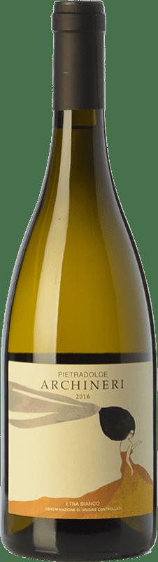 49,95 € Envío gratis | Vino blanco Pietradolce Archineri Bianco D.O.C. Etna Sicilia Italia Carricante Botella 75 cl